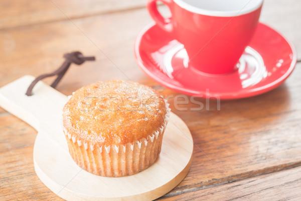 Plátano taza torta café expreso stock foto Foto stock © nalinratphi