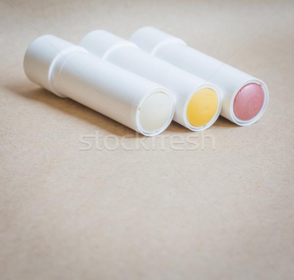 Feuchtigkeitscreme Lippenstift braun natürlichen hat Foto Stock foto © nalinratphi