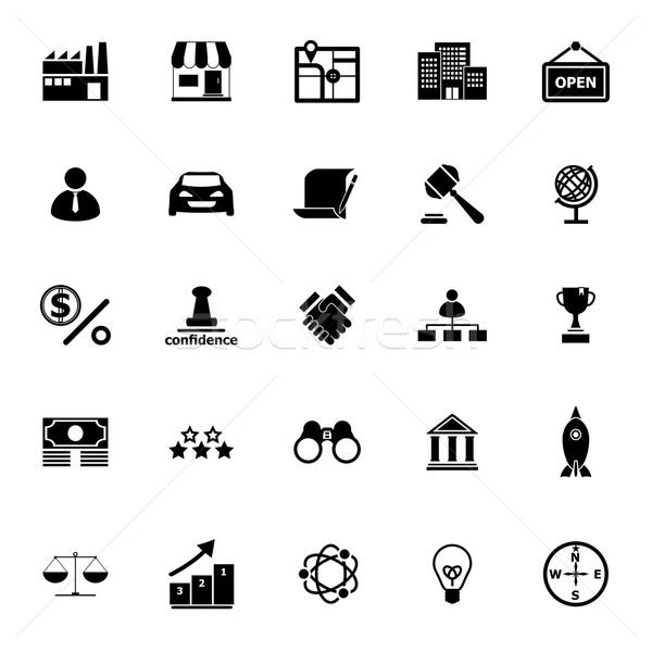 Franchise icons on white background Stock photo © nalinratphi