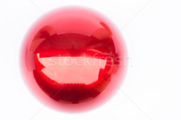 Fényes piros labda fehér stock fotó Stock fotó © nalinratphi