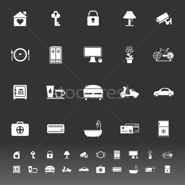 Generale home soggiorno icone grigio stock Foto d'archivio © nalinratphi