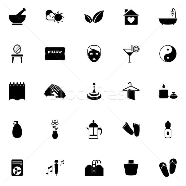 Massage icons on white background Stock photo © nalinratphi