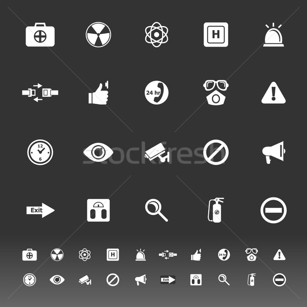 General healthcare icons on gray background Stock photo © nalinratphi