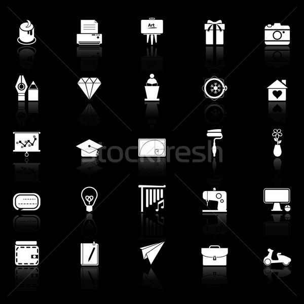 Artă creare icoane negru stoc vector Imagine de stoc © nalinratphi
