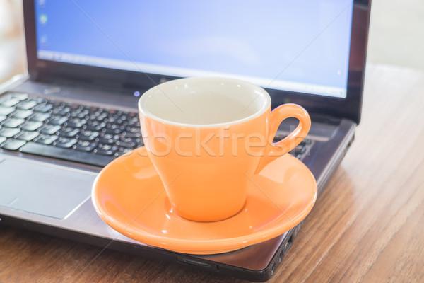 Stock photo: Tea time break of work