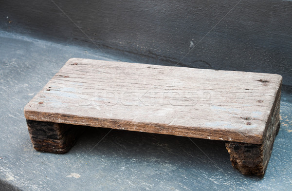 Vecchio stile mini legno sgabello pronto Foto d'archivio © nalinratphi