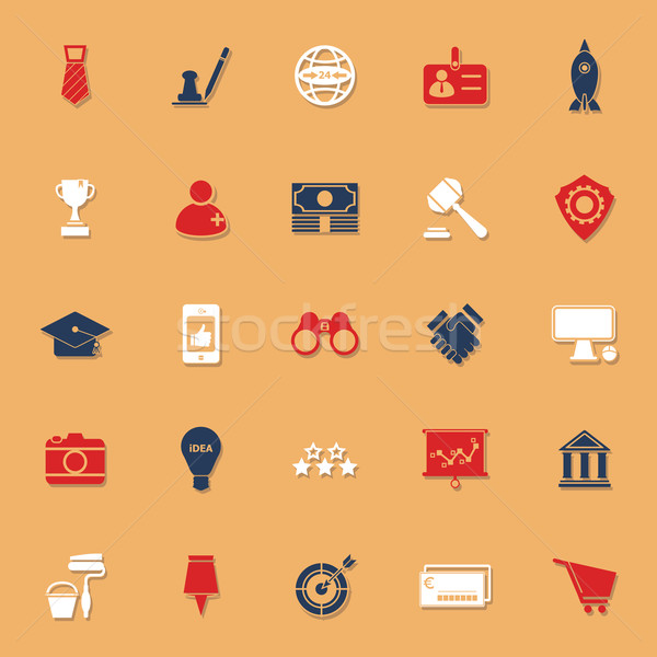 SME classic color icons with shadow Stock photo © nalinratphi
