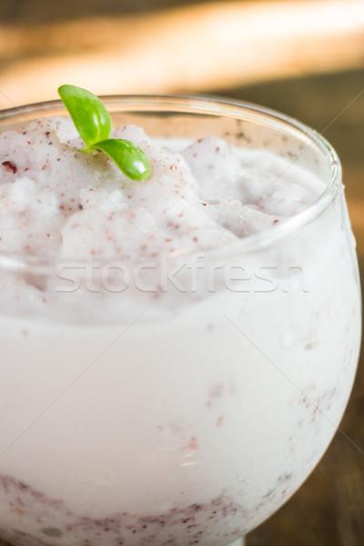 Berry rice milk frappe homemade drink Stock photo © nalinratphi