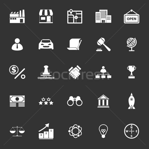 Franchise icons on gray background Stock photo © nalinratphi