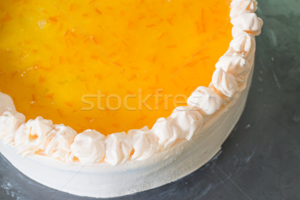 Homemade  orange marmalade whipped cream cake Stock photo © nalinratphi
