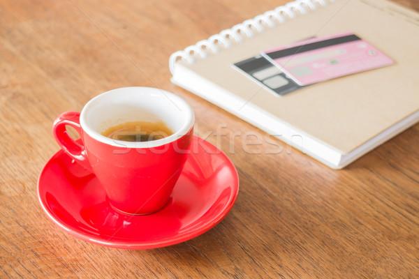 Kávészünet üzlet munka asztal stock fotó Stock fotó © nalinratphi