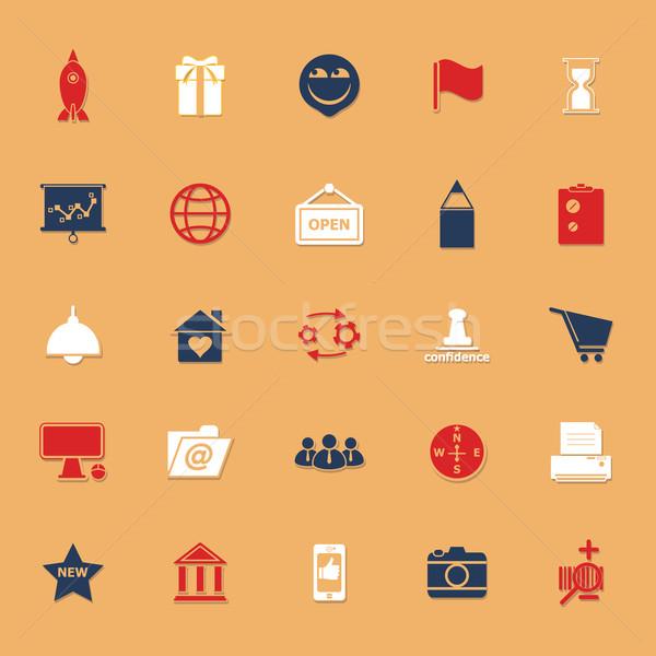 Business startup klassiek kleur iconen schaduw Stockfoto © nalinratphi