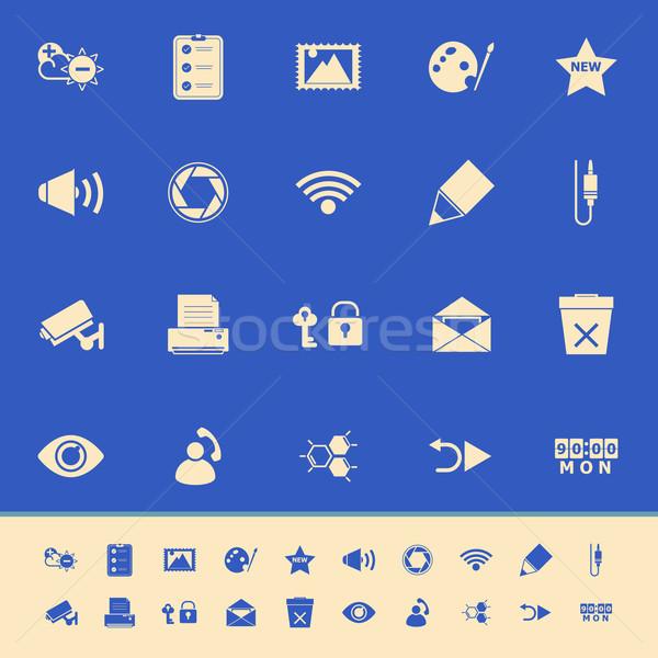 Ogólny ekranie komputera kolor ikona niebieski czas Zdjęcia stock © nalinratphi