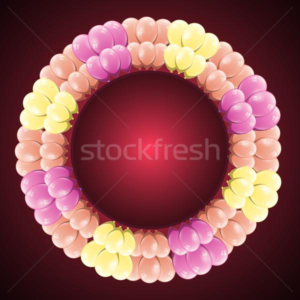 Luxus ünneplés kártya színes léggömb stock Stock fotó © nalinratphi