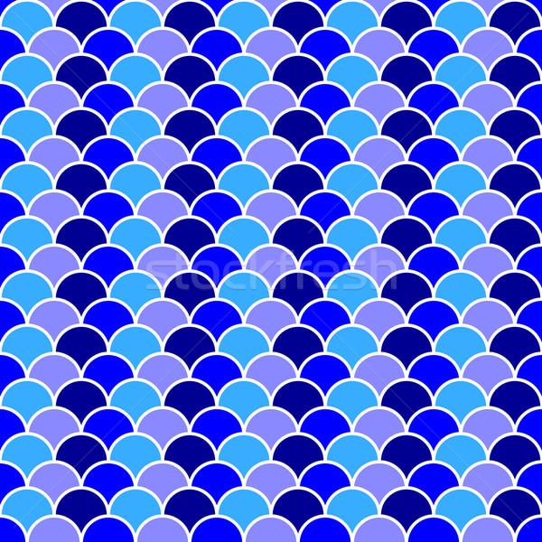 бесшовный синий океанская волна шаблон складе вектора Сток-фото © nalinratphi