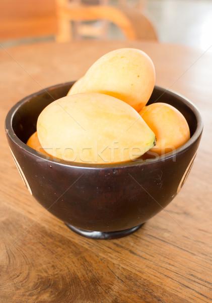 érett édes szilva thai gyümölcs stock Stock fotó © nalinratphi
