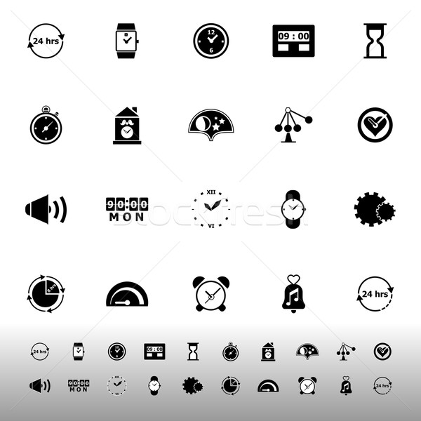 Time related icons on white background Stock photo © nalinratphi