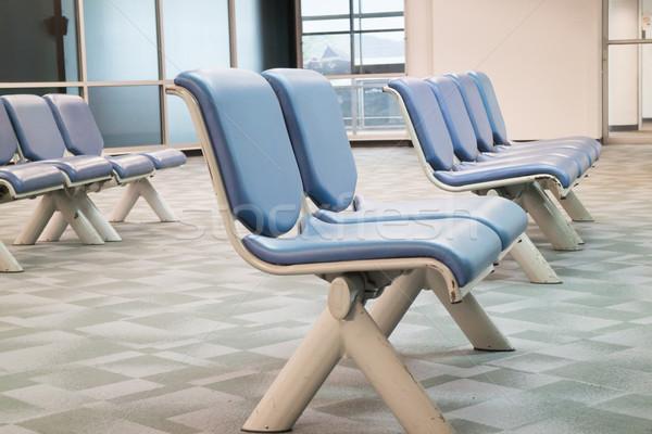 Row of leather waiting chairs Stock photo © nalinratphi