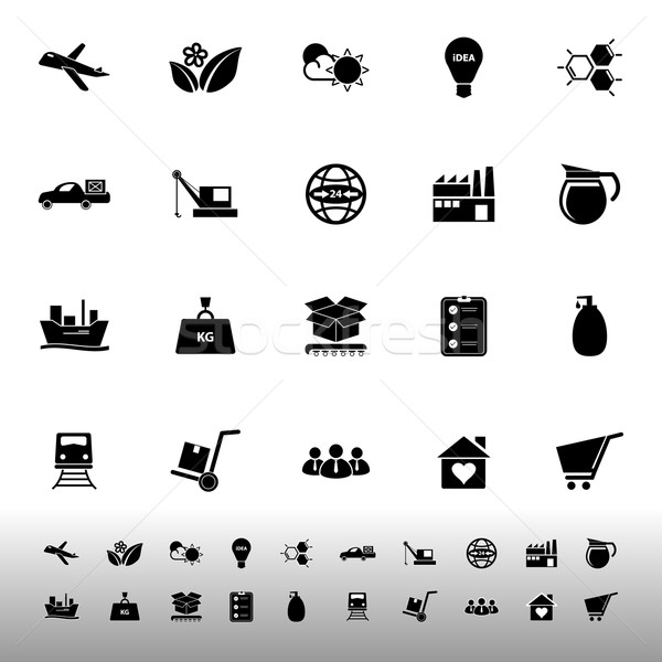 Supply chain and logistic icons on white background Stock photo © nalinratphi