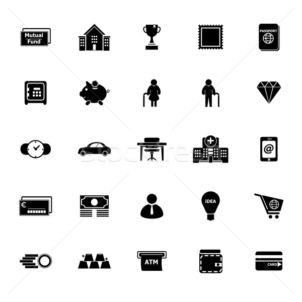 Stock photo: Personal financial icons on white background