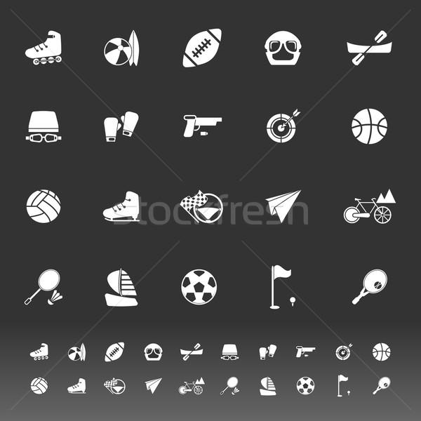 Экстрим иконки серый складе вектора велосипедов Сток-фото © nalinratphi
