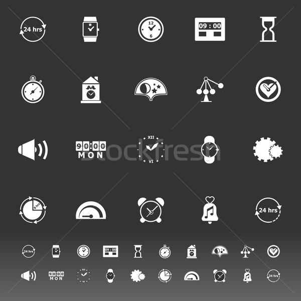 Time related icons on gray background Stock photo © nalinratphi
