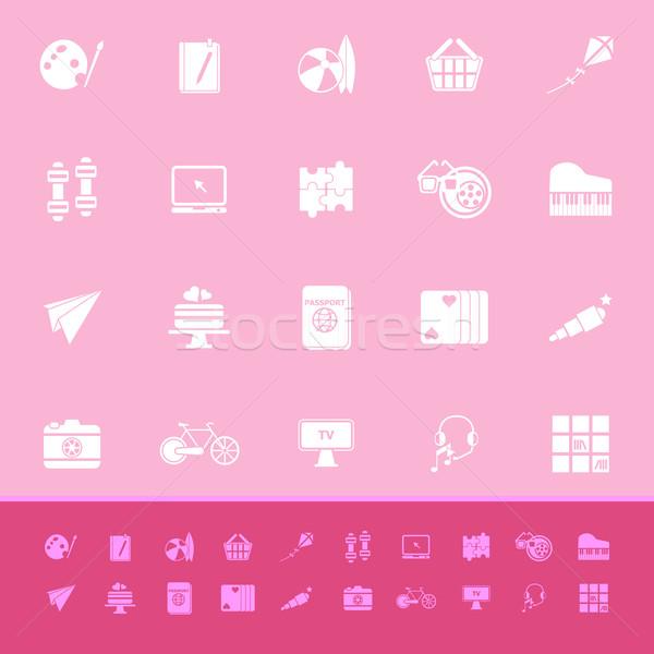 趣味 色 アイコン ピンク 在庫 ベクトル ストックフォト © nalinratphi