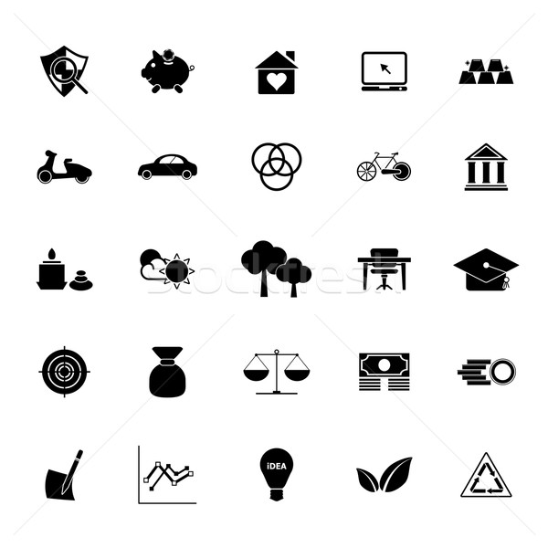 Sufficient economy icons on white background Stock photo © nalinratphi