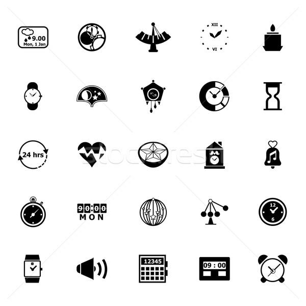 Design time icons on white background Stock photo © nalinratphi