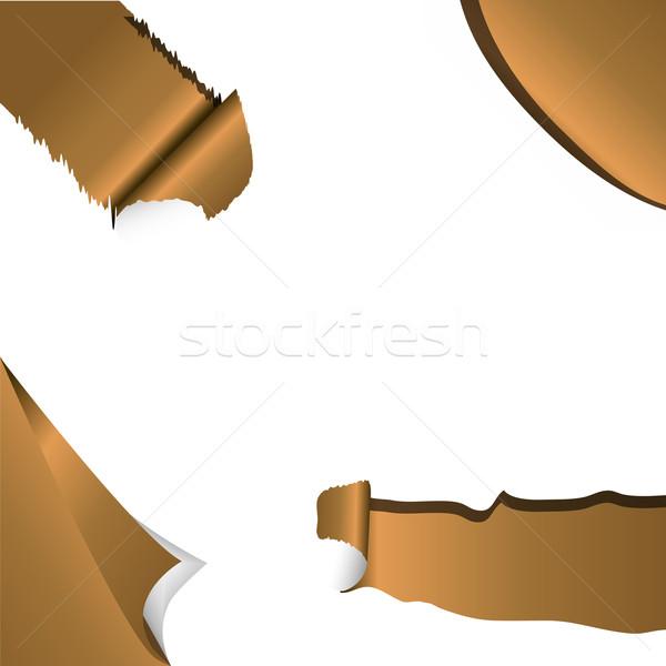Ayarlamak afişler köşe stil stok vektör Stok fotoğraf © nalinratphi