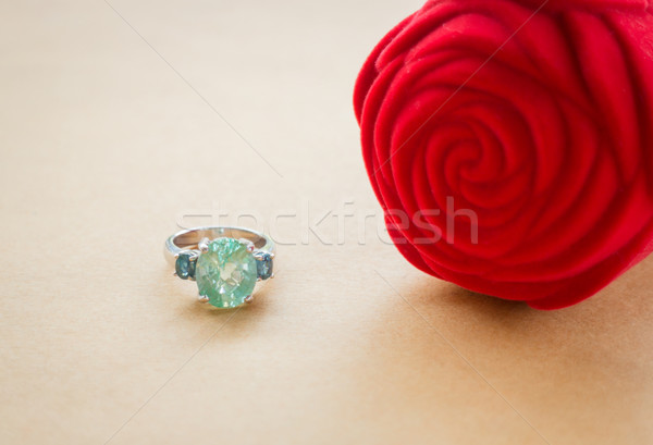 Gem stone fine jewellery ring Stock photo © nalinratphi