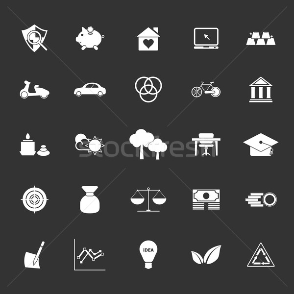 Sufficient economy icons on gray background Stock photo © nalinratphi