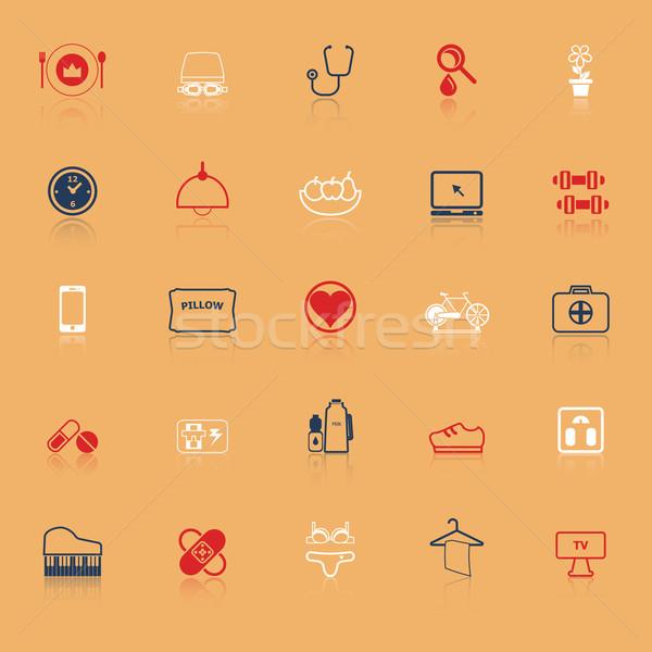 Kwaliteit leven lijn iconen voorraad vector Stockfoto © nalinratphi