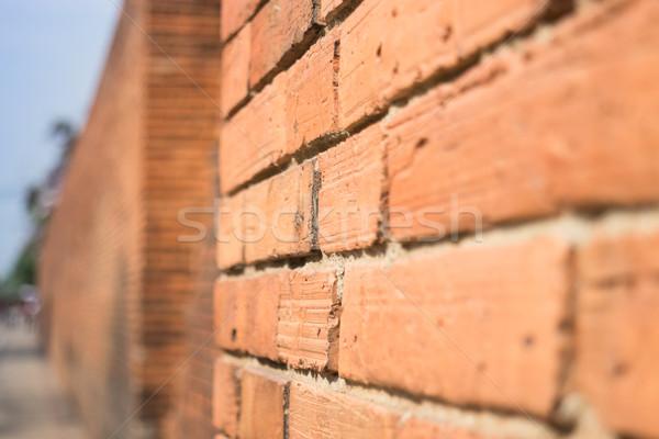 Kant muur voorraad foto deur retro Stockfoto © nalinratphi