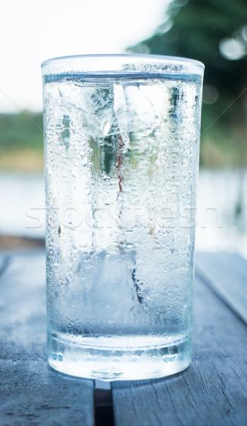 Glas koud water voorraad foto natuur Stockfoto © nalinratphi