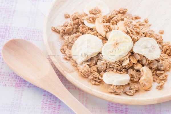 Casero granola desayuno secado frutas stock Foto stock © nalinratphi