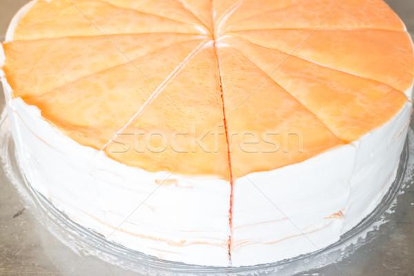 Delicioso caseiro crepe bolo estoque foto Foto stock © nalinratphi