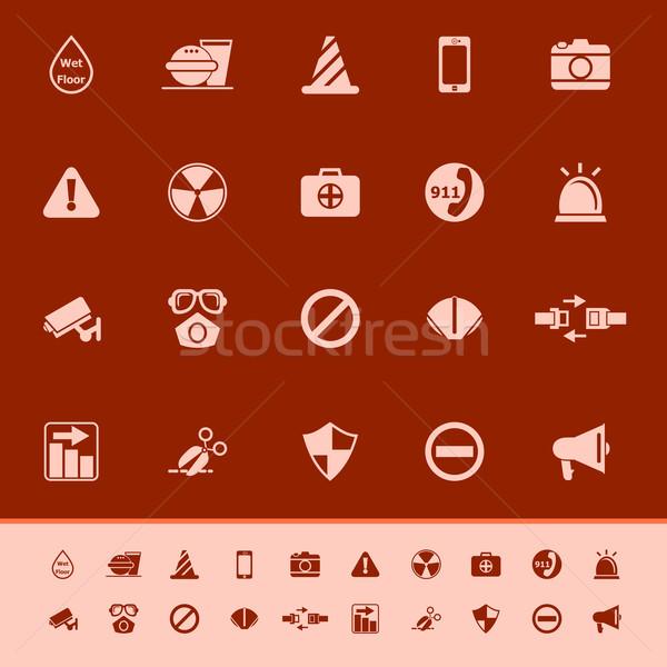 General útil color iconos rojo gris Foto stock © nalinratphi
