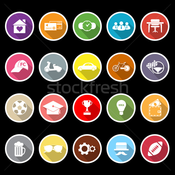 Normal gentleman flat icons with long shadow Stock photo © nalinratphi