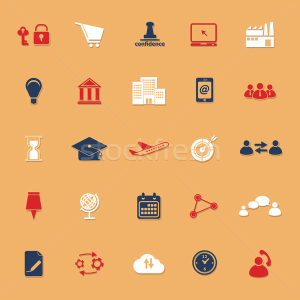 Business verbinding klassiek kleur iconen schaduw Stockfoto © nalinratphi