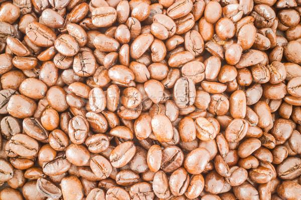 Pörkölt kávébab névjegy mintázott kávé űr Stock fotó © nalinratphi