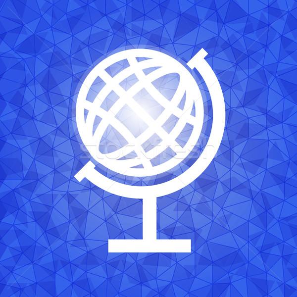 Globale Blauw driehoek voorraad vector wereld Stockfoto © nalinratphi