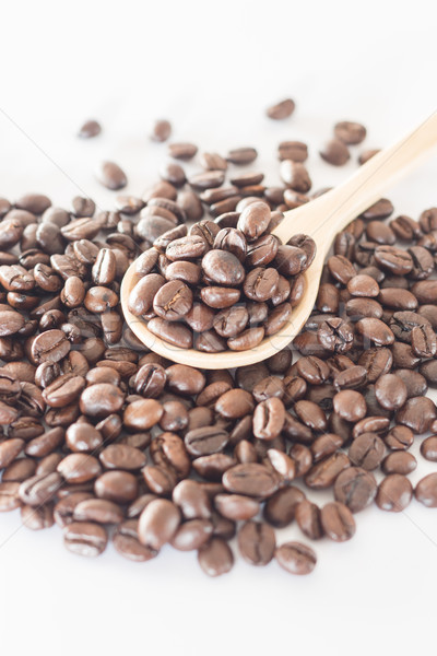 Cuillère grain de café stock photo café Photo stock © nalinratphi