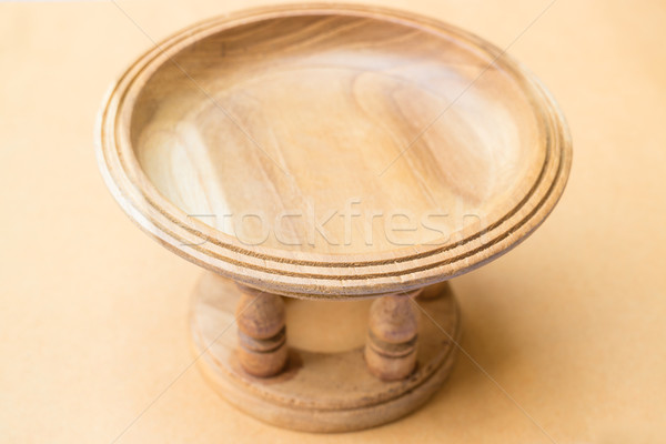 Oriental style of wood carving tray  Stock photo © nalinratphi