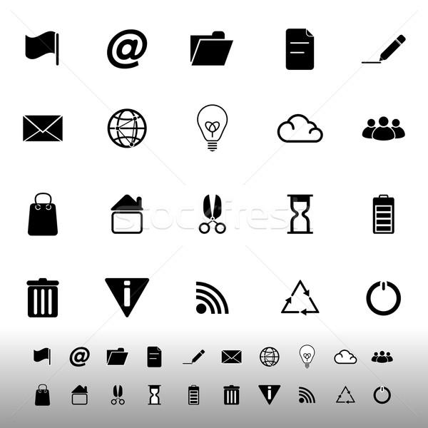 Web and internet icons on white background Stock photo © nalinratphi