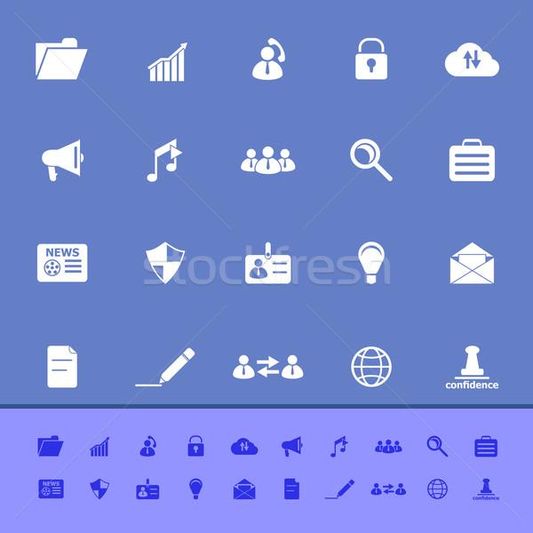 общий документа цвета иконки синий складе Сток-фото © nalinratphi