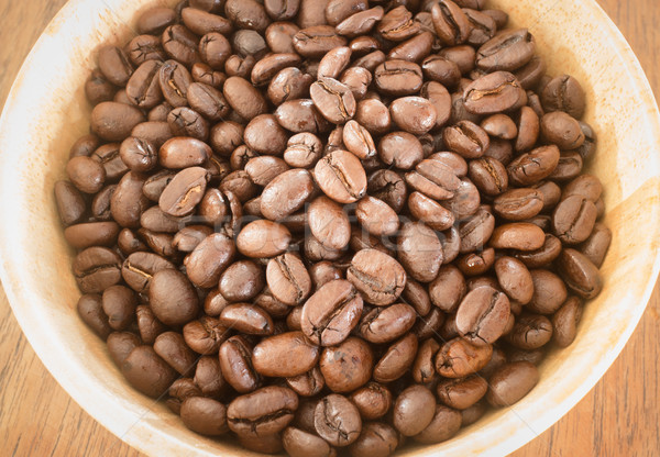 Grão de café tigela estoque foto café Foto stock © nalinratphi