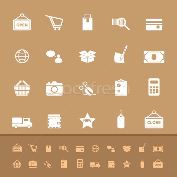 Ingesteld winkelen kleur iconen voorraad Stockfoto © nalinratphi