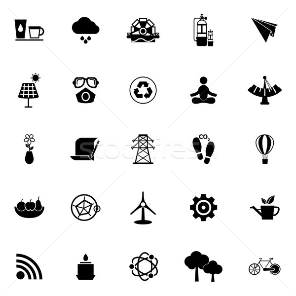 Clean concept icons on white background Stock photo © nalinratphi