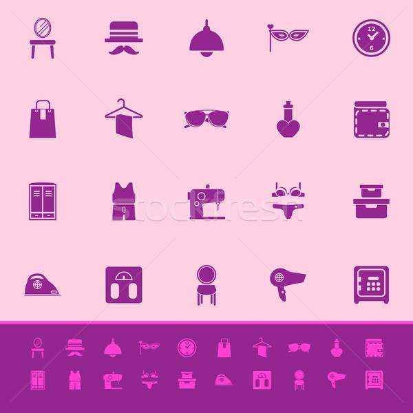 гардеробная цвета иконки розовый складе вектора Сток-фото © nalinratphi
